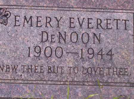 DENOON, EMERY EVERETT - Union County, Arkansas | EMERY EVERETT DENOON - Arkansas Gravestone Photos