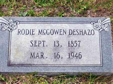 DESHAZO, RHODIE MCGOWEN - Union County, Arkansas | RHODIE MCGOWEN DESHAZO - Arkansas Gravestone Photos
