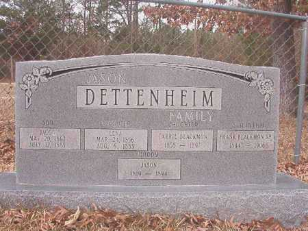 DETTENHEIM, LENA - Union County, Arkansas | LENA DETTENHEIM - Arkansas Gravestone Photos
