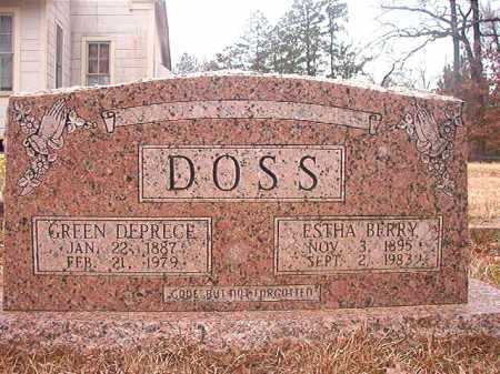 DOSS, GREEN DEPRECE - Union County, Arkansas | GREEN DEPRECE DOSS - Arkansas Gravestone Photos