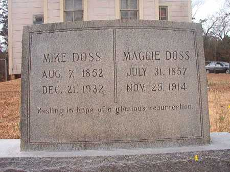 DOSS, MAGGIE - Union County, Arkansas | MAGGIE DOSS - Arkansas Gravestone Photos