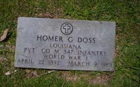 DOSS (VETERAN WWI), HOMER G - Union County, Arkansas | HOMER G DOSS (VETERAN WWI) - Arkansas Gravestone Photos