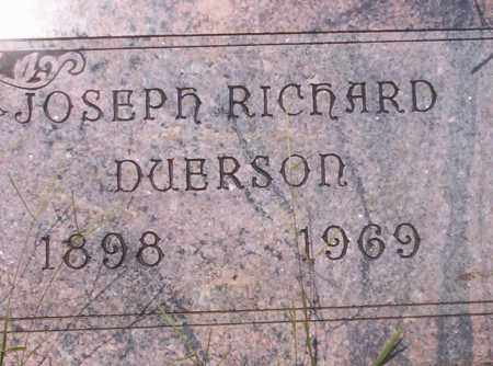 DUERSON, JOSEPH RICHARD - Union County, Arkansas | JOSEPH RICHARD DUERSON - Arkansas Gravestone Photos