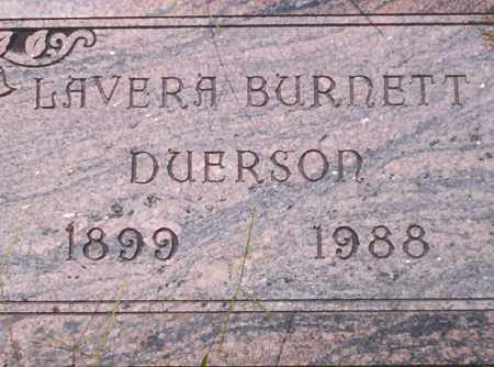 BURNETT DUERSON, LAVERA - Union County, Arkansas | LAVERA BURNETT DUERSON - Arkansas Gravestone Photos