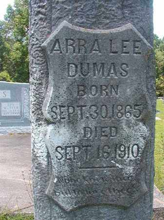 DUMAS, ARRA LEE - Union County, Arkansas | ARRA LEE DUMAS - Arkansas Gravestone Photos