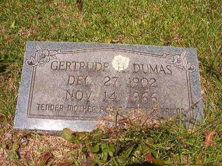 DUMAS, GERTRUDE H - Union County, Arkansas | GERTRUDE H DUMAS - Arkansas Gravestone Photos