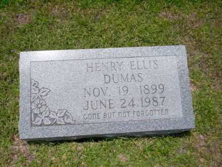 DUMAS, HENRY ELLIS - Union County, Arkansas | HENRY ELLIS DUMAS - Arkansas Gravestone Photos