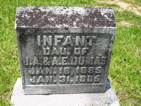 DUMAS, INFANT DAUGHTER - Union County, Arkansas   INFANT DAUGHTER DUMAS - Arkansas Gravestone Photos
