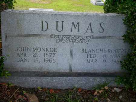 ROBERTS DUMAS, BLANCHE - Union County, Arkansas | BLANCHE ROBERTS DUMAS - Arkansas Gravestone Photos