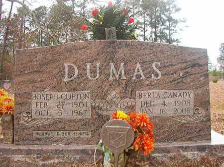 CANADY DUMAS, BERTA - Union County, Arkansas | BERTA CANADY DUMAS - Arkansas Gravestone Photos