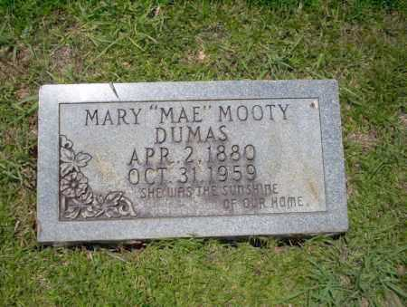 MOOTY DUMAS, MARY MAE - Union County, Arkansas | MARY MAE MOOTY DUMAS - Arkansas Gravestone Photos
