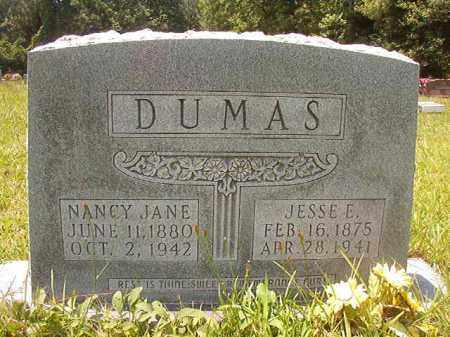 DUMAS, NANCY JANE - Union County, Arkansas | NANCY JANE DUMAS - Arkansas Gravestone Photos