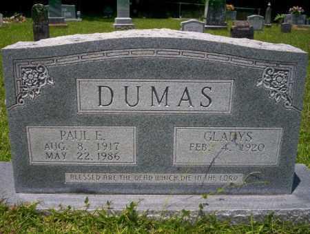 DUMAS, PAUL ELBERT - Union County, Arkansas | PAUL ELBERT DUMAS - Arkansas Gravestone Photos