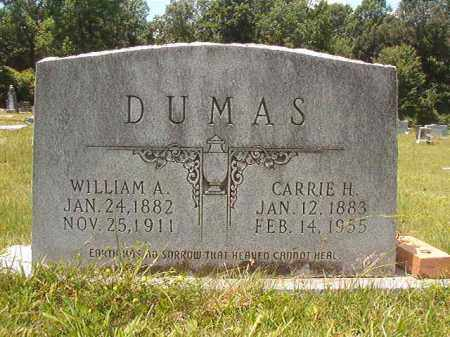 DUMAS, WILLIAM A - Union County, Arkansas | WILLIAM A DUMAS - Arkansas Gravestone Photos