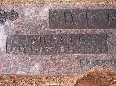 DUMAS, WILLIAM T - Union County, Arkansas | WILLIAM T DUMAS - Arkansas Gravestone Photos
