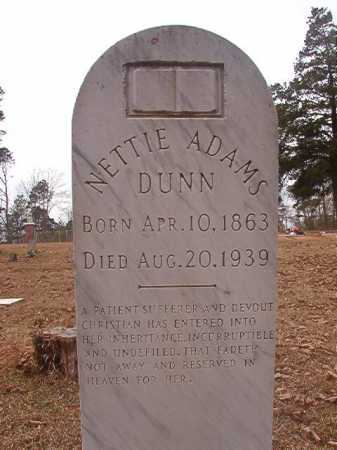 ADAMS DUNN, NETTIE - Union County, Arkansas | NETTIE ADAMS DUNN - Arkansas Gravestone Photos