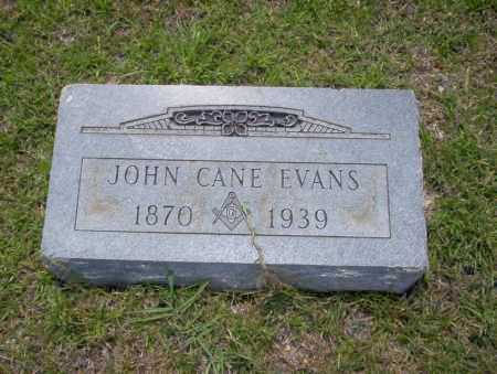 EVANS, JOHN CANE - Union County, Arkansas | JOHN CANE EVANS - Arkansas Gravestone Photos