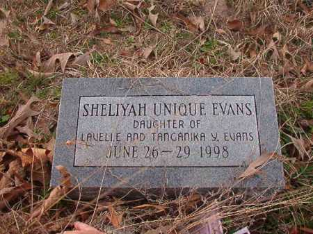 EVANS, SHELIYAH UNIQUE - Union County, Arkansas | SHELIYAH UNIQUE EVANS - Arkansas Gravestone Photos