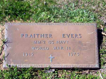 EVERS  (VETERAN WWII), PRAITHER - Union County, Arkansas | PRAITHER EVERS  (VETERAN WWII) - Arkansas Gravestone Photos