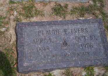 EVERS, CLAUDE E - Union County, Arkansas | CLAUDE E EVERS - Arkansas Gravestone Photos