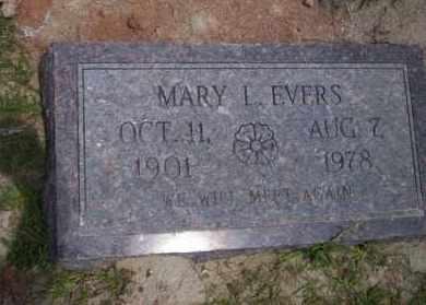 EVERS, MARY L - Union County, Arkansas | MARY L EVERS - Arkansas Gravestone Photos