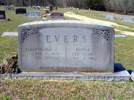 LANGFORD EVERS, MINNIE CAMELLIA - Union County, Arkansas | MINNIE CAMELLIA LANGFORD EVERS - Arkansas Gravestone Photos