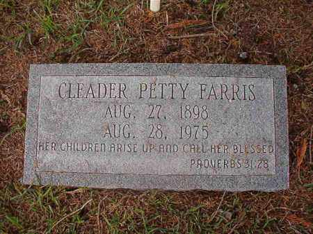 PETTY FARRIS, CLEADER - Union County, Arkansas | CLEADER PETTY FARRIS - Arkansas Gravestone Photos