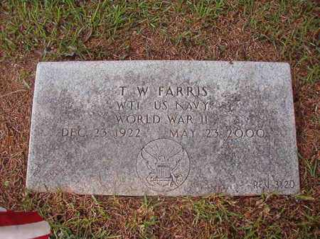 FARRIS (VETERAN WWII), T W - Union County, Arkansas | T W FARRIS (VETERAN WWII) - Arkansas Gravestone Photos
