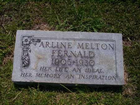 MELTON FERNALD, ARLINE - Union County, Arkansas | ARLINE MELTON FERNALD - Arkansas Gravestone Photos