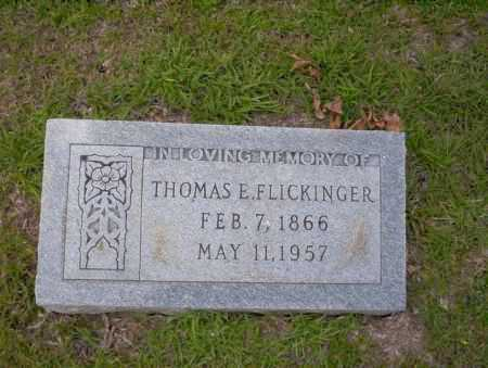FLICKINGER, THOMAS E - Union County, Arkansas | THOMAS E FLICKINGER - Arkansas Gravestone Photos
