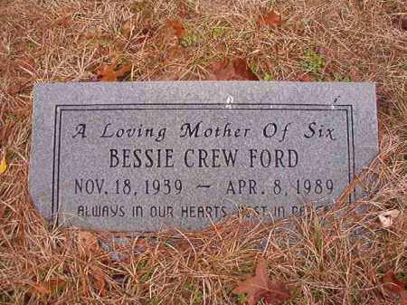 CREW FORD, BESSIE - Union County, Arkansas | BESSIE CREW FORD - Arkansas Gravestone Photos