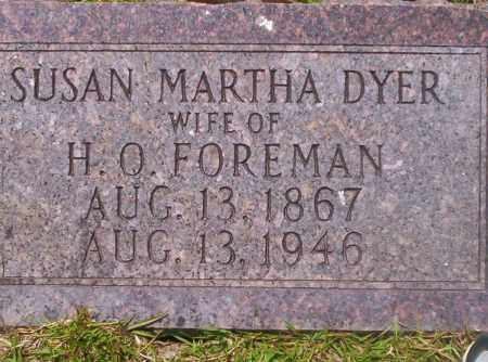 FOREMAN, SUSAN MARTHA - Union County, Arkansas | SUSAN MARTHA FOREMAN - Arkansas Gravestone Photos