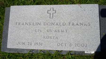 FRANKS (VETERAN KOR), FRANKLIN DONALD - Union County, Arkansas | FRANKLIN DONALD FRANKS (VETERAN KOR) - Arkansas Gravestone Photos
