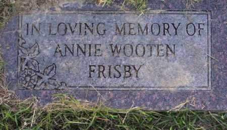 WOOTEN FRISBY, ANNIE - Union County, Arkansas | ANNIE WOOTEN FRISBY - Arkansas Gravestone Photos