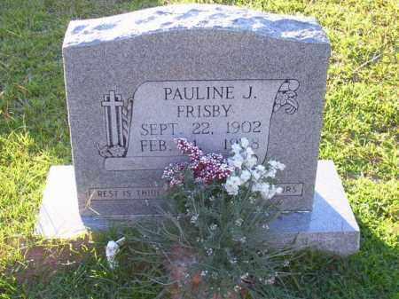 FRISBY, PAULINE J - Union County, Arkansas | PAULINE J FRISBY - Arkansas Gravestone Photos