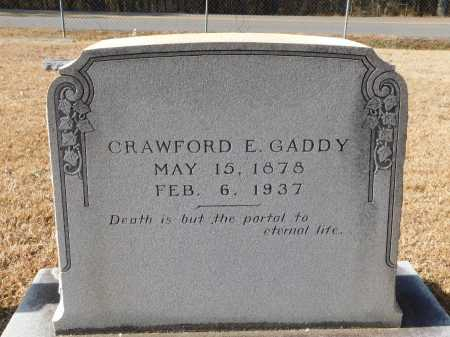 GADDY, CRAWFORD E - Union County, Arkansas | CRAWFORD E GADDY - Arkansas Gravestone Photos