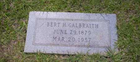 GALBRAITH, BERT H - Union County, Arkansas | BERT H GALBRAITH - Arkansas Gravestone Photos