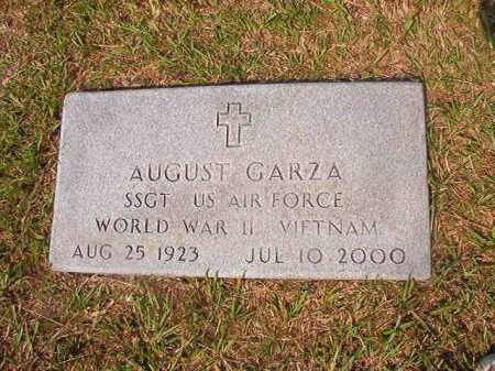 GARZA (VETERAN 2 WARS), AUGUST - Union County, Arkansas | AUGUST GARZA (VETERAN 2 WARS) - Arkansas Gravestone Photos