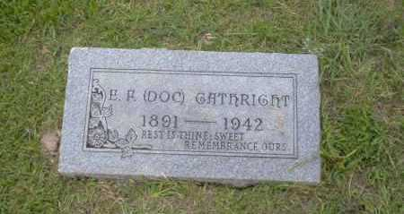 GATHRIGHT, E.P. ( DOC) - Union County, Arkansas | E.P. ( DOC) GATHRIGHT - Arkansas Gravestone Photos