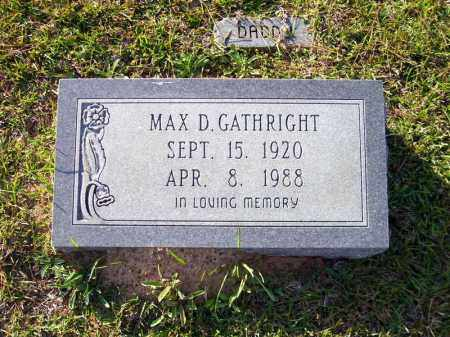 GATHRIGHT, MAX D. - Union County, Arkansas | MAX D. GATHRIGHT - Arkansas Gravestone Photos