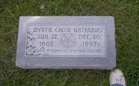 CROW GATHRIGHT, MYRTIE - Union County, Arkansas | MYRTIE CROW GATHRIGHT - Arkansas Gravestone Photos