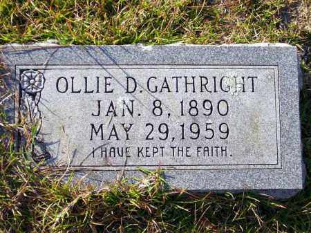 GATHRIGHT, OLLIE D. - Union County, Arkansas | OLLIE D. GATHRIGHT - Arkansas Gravestone Photos