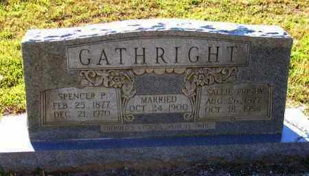 FRISBY GATHRIGHT, SALLIE - Union County, Arkansas | SALLIE FRISBY GATHRIGHT - Arkansas Gravestone Photos