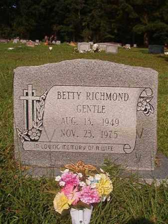 RICHMOND GENTLE, BETTY - Union County, Arkansas | BETTY RICHMOND GENTLE - Arkansas Gravestone Photos