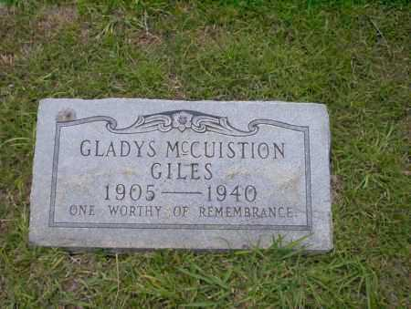 GILES, GLADYS - Union County, Arkansas | GLADYS GILES - Arkansas Gravestone Photos
