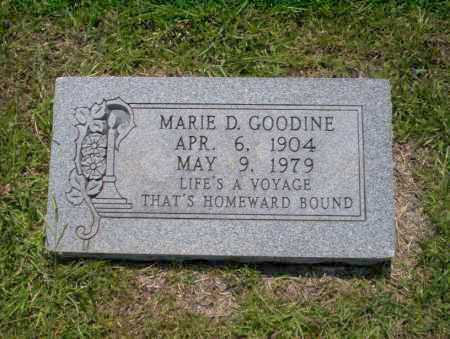 GOODINE, MARIE D - Union County, Arkansas | MARIE D GOODINE - Arkansas Gravestone Photos