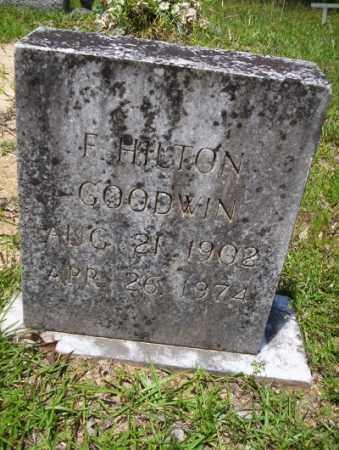 GOODWIN, F HILTON - Union County, Arkansas | F HILTON GOODWIN - Arkansas Gravestone Photos