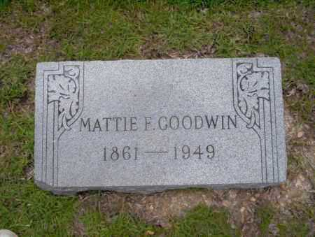 GOODWIN, MATTIE F - Union County, Arkansas | MATTIE F GOODWIN - Arkansas Gravestone Photos