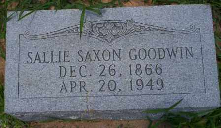 GOODWIN, SALLIE - Union County, Arkansas | SALLIE GOODWIN - Arkansas Gravestone Photos