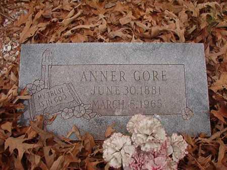 GORE, ANNER - Union County, Arkansas | ANNER GORE - Arkansas Gravestone Photos